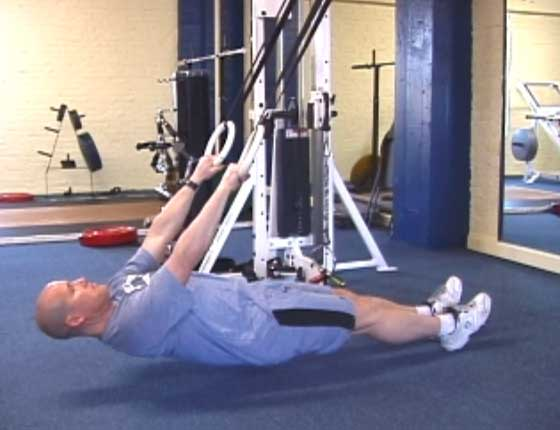 Elevated Ring Row To Hips